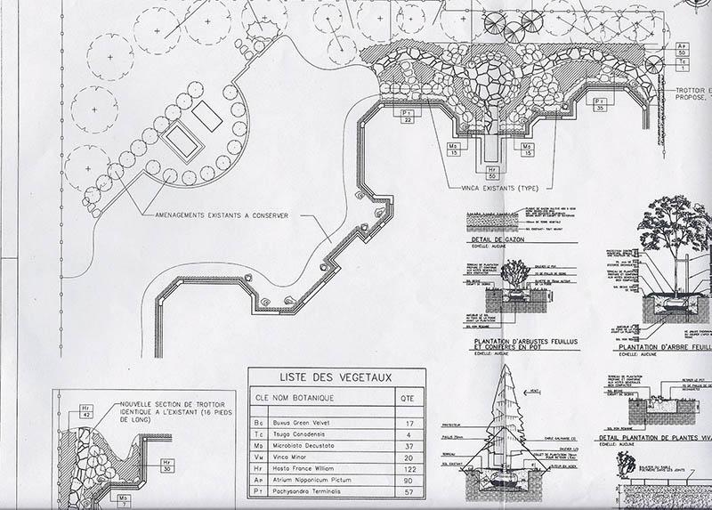 Plan d 39 am nagement paysager rive sud brossard cl for Plan amenagement paysager